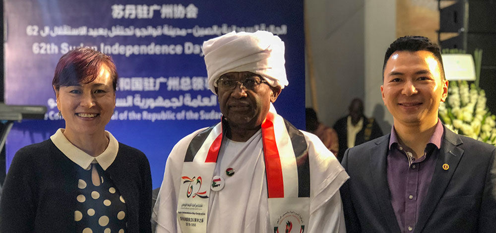 HiTouch was invited to the celebration on the independent day of Sudan.